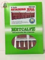 Metcalfe PN145 N Scale Retaining Wall in Red Brick - N Gauge