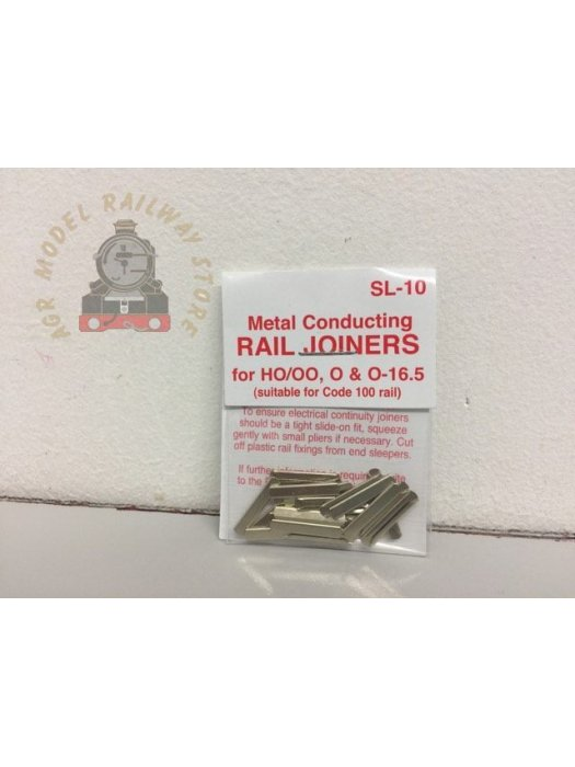 Peco SL-10 Nickel Silver Rail Joiners (24) - OO Gauge