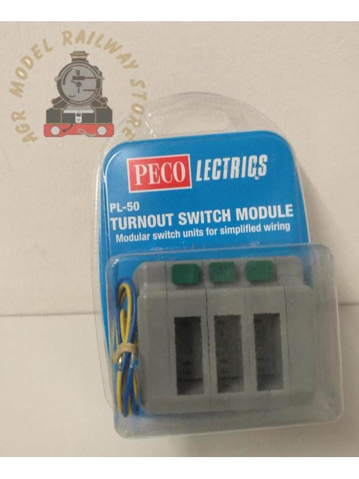 Peco PL-50  Switch Modules with End Caps (3) Holds 3 x PL-26 (not included)