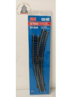 Peco ST-244  Setrack Curved Right Hand Point - OO Gauge