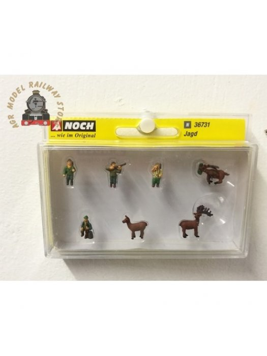 Noch 36731 Hunters (4) and Deer (3) Figure Set - N Gauge