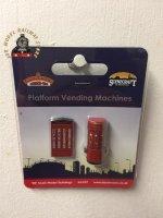 Bachmann 44-597 Scenecraft Platform Vending Machines (Pre-Built)