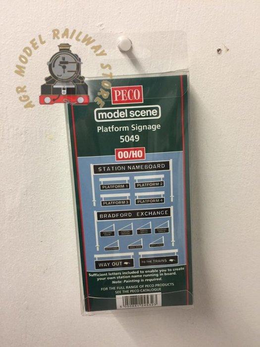 Modelscene 5049 Platform Signage - OO Gauge
