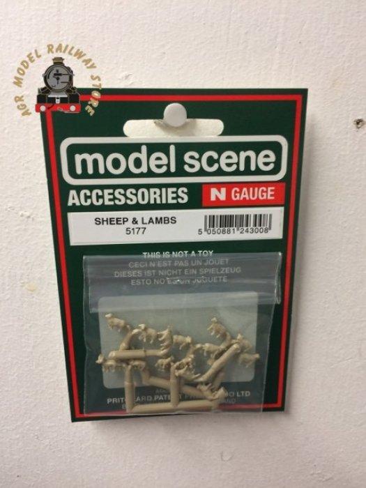 Modelscene 5177 Unpainted Sheep and Lambs Figure Set - N Gauge