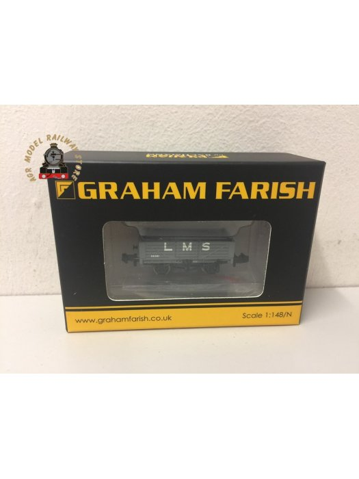 Graham Farish 377-064 5 Plank Wagon Wooden Floor LMS with Load