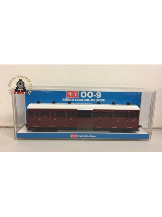 Peco GR-450U All Third Coach Indian Red Unlettered