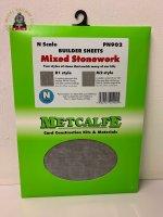 Metcalfe PN902 Mixed Stonework Sheets - N Gauge