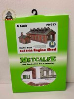 Metcalfe PN913 Double Track Engine Shed Red Brick Card Kit - N Gauge