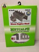 Metcalfe PN937 Settle & Carlisle Double Track Engine Shed Card Kit - N Gauge
