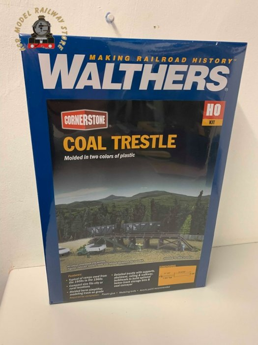 Walthers Cornerstone 933-4093 Coal Trestle Kit - OO / HO Gauge