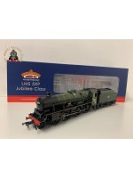 Bachmann 31-186A OO Gauge LMS 5XP Jubilee 45654 'Hood' BR Green Late Crest And Yellow Cabside Stripe