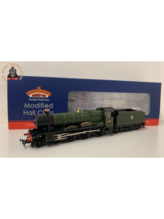 Bachmann 31-785 OO Gauge GW Modified Hall 6990 'Witherslack Hall' BR Lined Green Early Crest