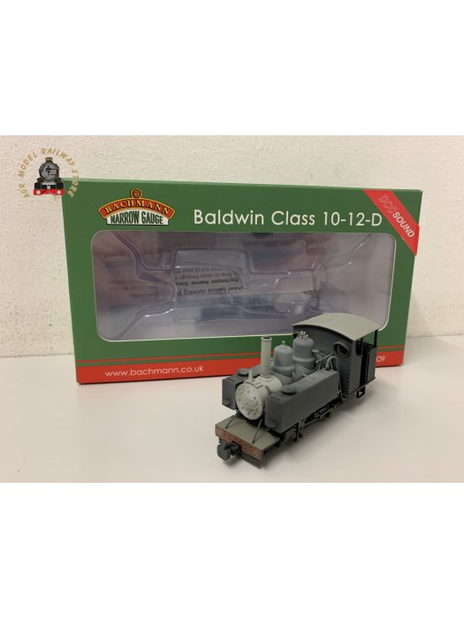 Bachmann 391-030SF OO-9 Baldwin 10-12-D Tank No. 4 Snailbeach District Railways Black Weathered DCC Sound Fitted
