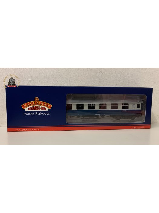 Bachmann 39-452 OO Gauge LMS 57ft Porthole Second Corridor BR Blue & Grey