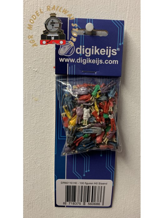 Digikeijs DR60110-H0 100 PAINTED FIGURES H0 STANDING