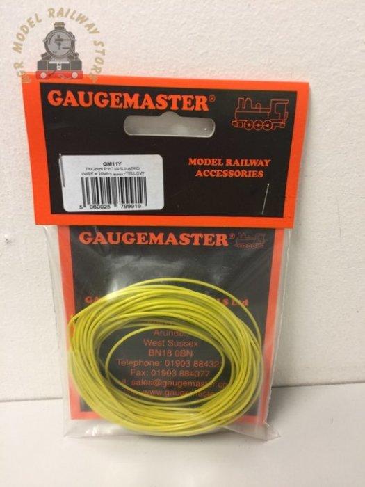 Gaugemaster GM11Y WIRE-YELL Yellow Wire 10m (7 x 0.2mm)