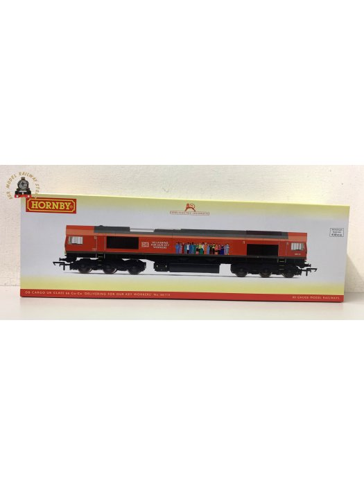 Hornby R30074 OO Gauge Class 66 66113 Delivering For Our Key Workers DB Schenker