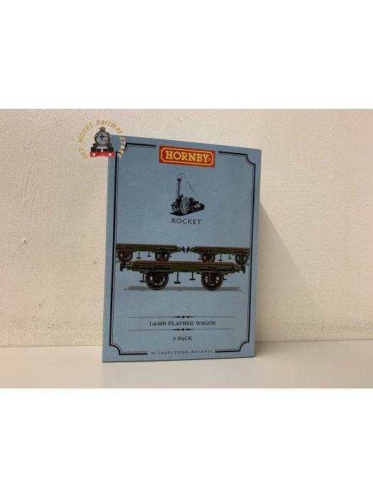 Hornby R60014 OO Gauge L&MR Flat Bed Wagon Triple Pack