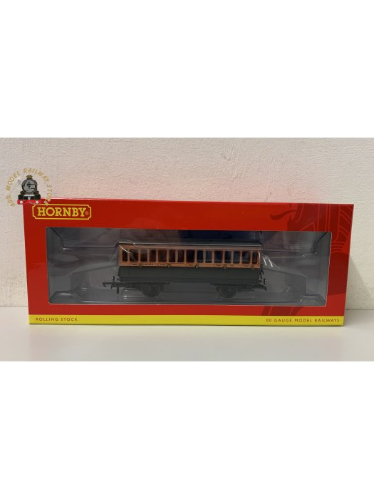 Hornby R40062A 4 wheel 3rd 308 in LSWR brown and umber