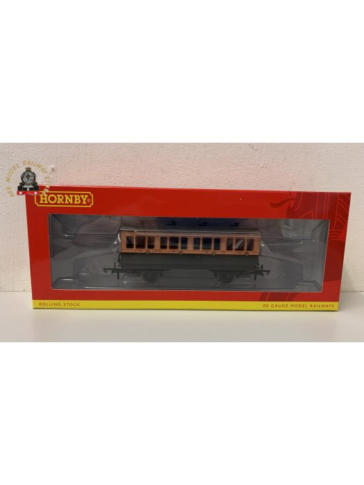 Hornby R40061 4 wheel 1st 123 in LSWR brown and umber