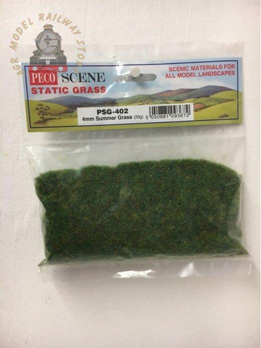 Peco PSG-402 Pecoscene - Static Grass 4mm Summer (20g)