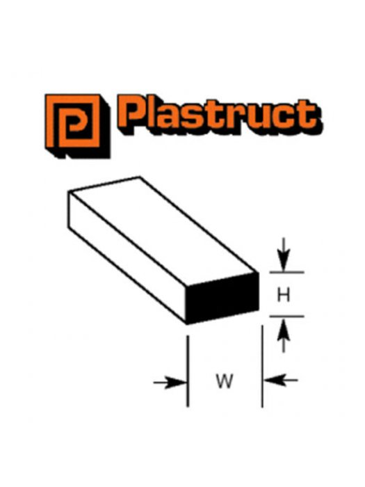 Plastruct MS-40P  MS-40P - 1mm SQUARE ROD (10)