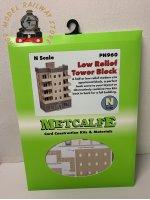 Metcalfe PN960 N Gauge Tower Block Card Kit