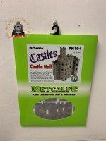 Metcalfe PN194 N Gauge Castle Hall Card Kit