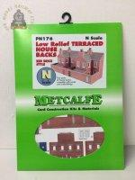 Metcalfe PN176 Low Relief Terraced House Backs Red Brick - N Gauge