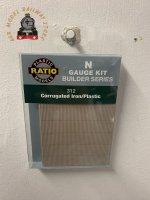 Ratio 312  Building Sheet - Corrugated Sheet ( iron / plastic ) - N Gauge