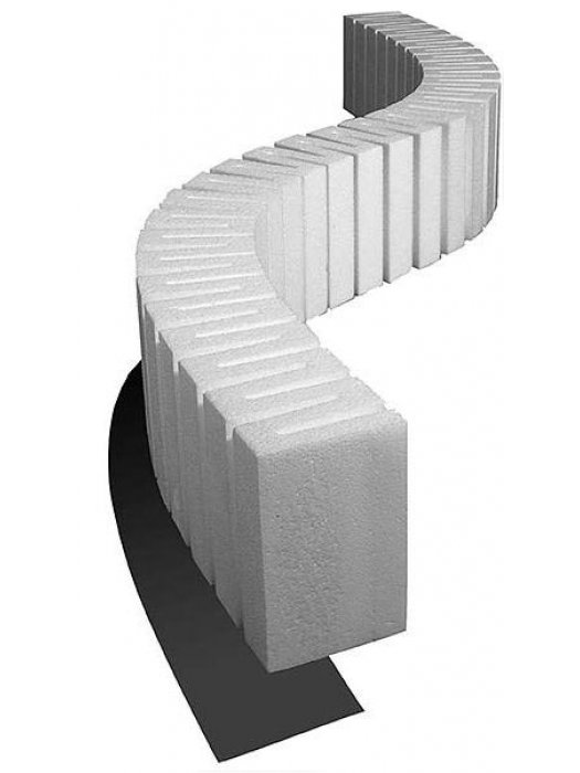 """Woodland Scenics ST1409 Foam Riser For Elevated Track - 4"""" High - 2.5"""" Wide - Pack of 2"""