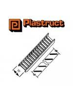 Plastruct STAS-4P  STAS-4P - 1:100 WHITE STYRENE STAIR (2)