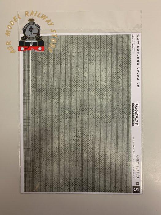 Superquick D5 Grey Slates Building Papers - OO Gauge