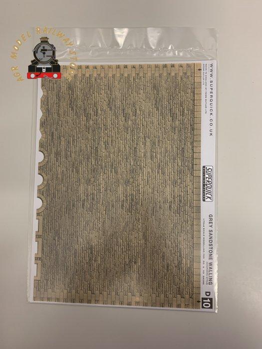Superquick D10 Grey Sandstone Coursers Building Papers - OO Gauge