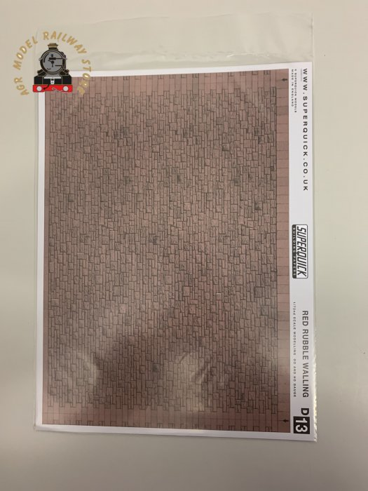 Superquick D13 Red Rubble Walling Building Papers - OO Gauge