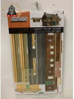 Superquick A2 Country Station Building - OO Gauge Card Kit