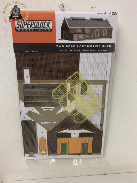 Superquick A5 Two Road Locomotive Shed - OO Gauge Card Kit