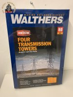 Walthers Cornerstone 933-3121 High Voltage Transmission Towers (4) OO/ HO Kit