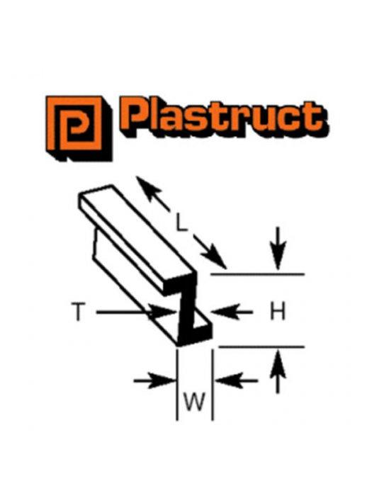 Plastruct ZFS-8P  ZFS-8P - 6.4 x 3.7mm Z SECTION (SINGLE)