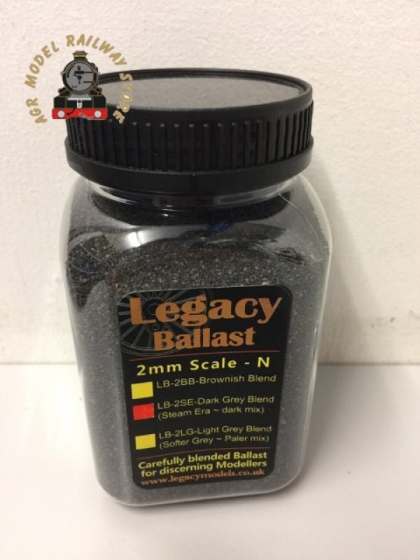 DCC Concepts LB-2SE Dark Grey Blend Ballast Steam Era - Dark Mix 2mm N Gauge