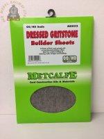 Metcalfe MOO52  Dressed Gritstone (8 x A4 size sheets) - OO Gauge