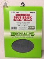 Metcalfe MOO53   Engineers Blue Brick Sheets (8) - OO Gauge