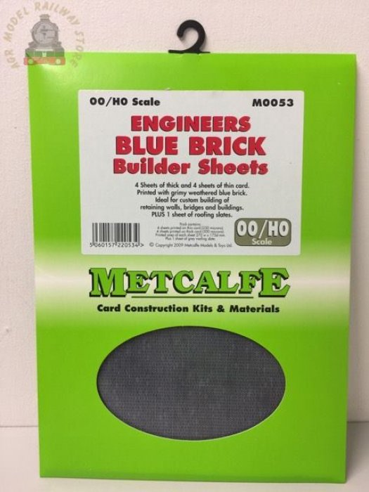 Metcalfe M0053   Engineers Blue Brick Sheets (8) - OO Gauge