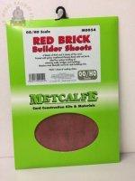Metcalfe MOO54  Red Brick Sheets (8 x A4 size) - OO Gauge