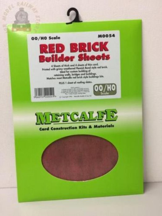 Metcalfe M0054  Red Brick Sheets (8 x A4 size) - OO Gauge