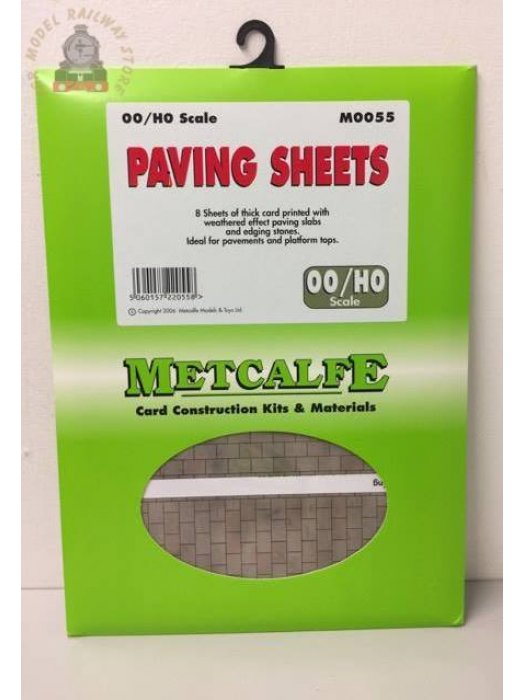 Metcalfe M0055  Paving Sheets (8 x A4 size) - OO Gauge
