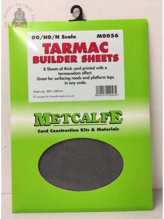 Metcalfe M0056  Tarmac Sheets (8 x A4 size) - OO Gauge