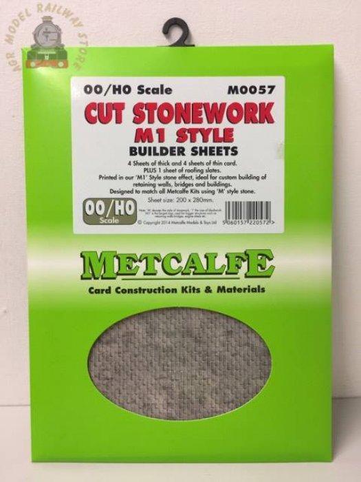 Metcalfe  MOO57 Cut Stonework M1 Style - OO Gauge