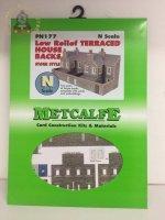 Metcalfe PN177 Low Relief Terraced House Backs Stone - N Gauge