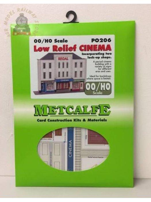 Metcalfe PO206  Low Relief Cinema & Shops - OO Gauge